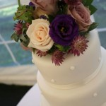 Rose and Astrantia Cake-top