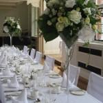 Lisianthus martin vase table arrangemen