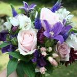 Alstroemeria, Veronica, Rose and Clematis