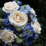 Cornflowers, Nigella and roses