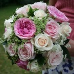 David Austin Roses and Dill bouquet