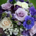 Lilac Rose, anemones, phlox and gypsophila bouquet